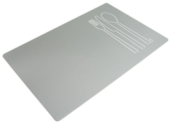 tischset platzdeckchen platzset abwaschbar grau kunststoff pvc ebay. Black Bedroom Furniture Sets. Home Design Ideas