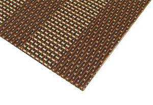 tischset platzdeckchen platzmatte platzset abwaschbar braun beige kunststoff pvc ebay. Black Bedroom Furniture Sets. Home Design Ideas