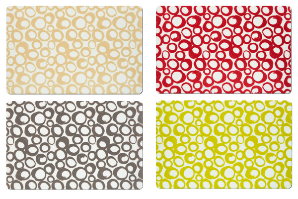 6 tischset platzdeckchen platzset abwaschbar beige grau rot gr n kunststoff ebay. Black Bedroom Furniture Sets. Home Design Ideas